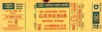 GENESIS / PHIL COLLINS 1983 MAMA TOUR UNUSED MSG CONCERT TICKET / D22 / EX 2 NMT