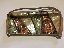 Gold and Bronze Sequinned Handbag Florence + Fred