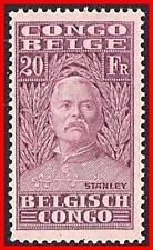 BELGIAN CONGO 1928 SIR HENRY M.STENLEY 20Fr (KEY VALUE) SC#129 MNH VFRESH CV$35