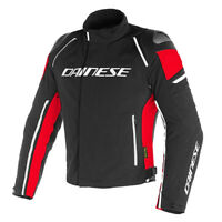 GIACCA DAINESE RACING 3 D.DRY NERO/NERO/ROSSO TG.54