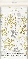 Christmas Xmas Party Decoration Gold Silver Plastic Table Cover Tablecloth July