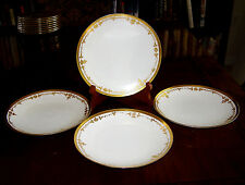 "Set Of 4 Thomas Bavaria 7 1/2"" Salad Plates Handpainted Gold Border"