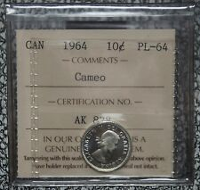 1964 CANADA - 10 CENTS SILVER PROOF LIKE - CAMEO - ICCS Graded PL-64 - Nice