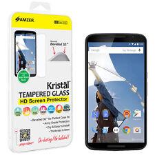 Amzer Hd De Cristal Templado Protector De Pantalla Biselado 3d Para Motorola Google Nexus 6