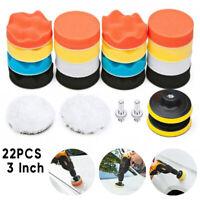22 PCS Car Foam Drill Polishing Pad Kit High Quality 3 Inch Buffing Pads