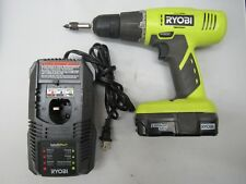 """Ryobi One+ 18V Lithium 3/8"""" Drill Driver P209 W/ Battery & Charger"""