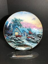 Seaside Cottage by Thomas Kinkade Collector's Plate by Edwin M. Knowles