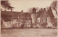 G1355 France - Environs d'Argentan, le chateau de Cisai-Saint-Aubin - 1935 print