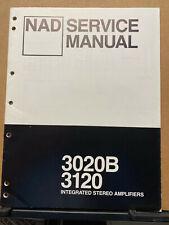 Original Service Manual for the NAD 3020B 3120 Integrated Amplifier ~ Repair