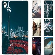 Dessana Toronto Sightseeing TPU Silicone Protective Cover Phone Case For sony