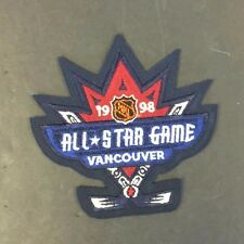 1998 NHL All Star Game Jersey Patch Vancouver Canada Hockey Unused Vintage