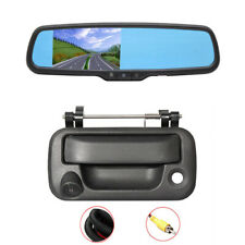 """Backup Tailgate Handle Camera& Video Display Monitor 4.3"""" for 2006-14 Ford F150"""