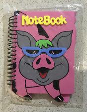 Spiral Notebook, 3D Foam Cover Pig Theme
