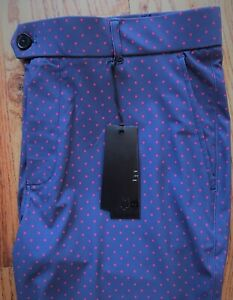 New Greyson Golf Icon Pants Mens Navy Red wolf dot TIC1012 FREE SHIP