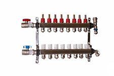 8 - Loop/Port Stainless Steel PEX Manifold Radiant Heating