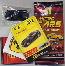 Micro Cars 2015 FERRARI F12 Berlinetta #04 card+sticker+bag+bpz 1/100 Kyosho MIB