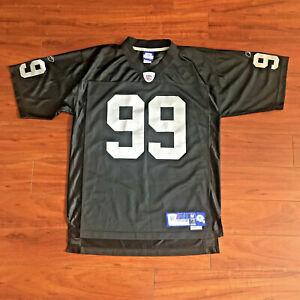 Vintage Reebok Warren Sapp #99 NFL Oakland Raiders Jersey Mens Size Medium Black