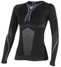 Dainese D-core SECAR TEE LS mujer motocicleta funcional Ropa Negro Blanco XS S