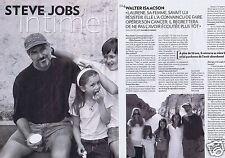 Coupure de presse Clipping 2011 Steve Jobs   (4 pages)