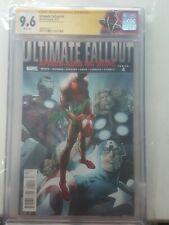 Ultimate Fallout #4 1st Print 9.6 CGC SS Bagley 1st Miles Morales w/custom label