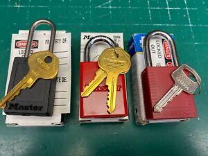 LOTO Padlock Lot - Master Pro and Brady - Locksmith Locksport