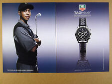 2004 Tiger Woods photo TAG Heuer Carrera Automatic Chronograph watch print Ad