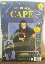 "Rubie's Vintage Halloween Vampire/Dracula 45"" Vinyl Cape W/ Collar New!!"