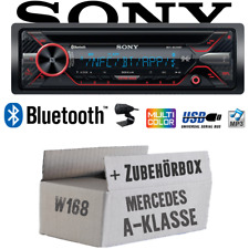 Sony Autoradio für Mercedes A-Klasse W168 Bluetooth CD MP3 USB Auto Einbauset