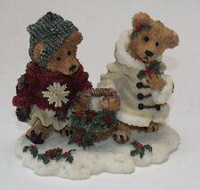 "Vg+ 1994 ""Edmund & Bailey.Gathering Holly"" Boyds Bears Bearstone Coll 2240"