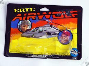 ERTL AIRWOLF HELICOPTER DIE-CAST METAL PACKAGING ONLY 1:64 VINTAGE 1984 TOY