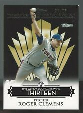Roger Clemens 2008 Topps Moments and Milestones Black 20/25 Card# 80-13