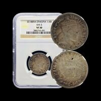 1897 Ethiopia 1/4 Birr (Silver) - NGC VF30 - SCARCE