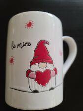 """Tag Valentine's Gnome """"Be Mine"""" Mug Brand New"""