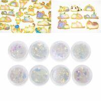 8 Pcs UV Color Change Mica Powder Sunlight Reactive Glitter Resin Jewelry Making