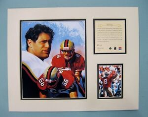 San Francisco 49ers STEVE YOUNG 1996 Football 11x14 MATTED Kelly Russell Print