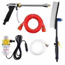 12V 100W 160PSI High Pressure Car Washer Cleaner Water Wash Pump Sprayer Kit Hot