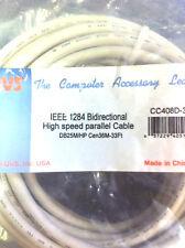 QVS 33-ft Bidirectional Parallel Printer Cable CC408D-33 High Density