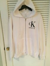 Louie CK Zip Up Sweatshirt Hoodie Logo White Size Large