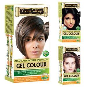 Indus Valley Natural Damage Free Gel Hair Colour Brown Black Burgundy Copper