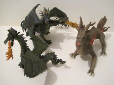 PAPO Fantasy Action Figures: CHINESE FIRE DRAGON, 2-HEADED & SMALL GREEN DRAGON