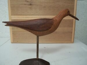 Hand Carved Gunning Style Split Tail Eskimo Curlew Shorebird Decoy