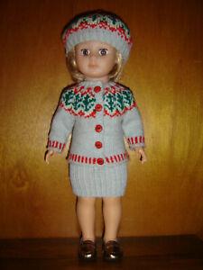 vêtements pour poupée Modes et Travaux 40 cm Tricotés main Jacquard bis