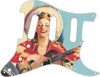 Stratocaster Pickguard Custom Fender SSS 11 Hole Guitar Pick Guard Strummin Girl