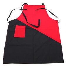 Rot Schwarz Schürze für Beauty, Friseur, Nageldesign, Make-Up Arbeitsschü Sale