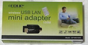 EDUP EP-MS150N 150Mbps Wireless-N USB 2.0 Adapter w/5dBi Antenna (Black)