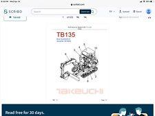 Takeuchi Tb 135 Parts Manualpdf Digital Download