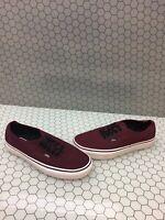 VANS Lo Pro Classic Burgundy Lace Up Canvas Skate Shoes Mens Size 6.5  Women's 8