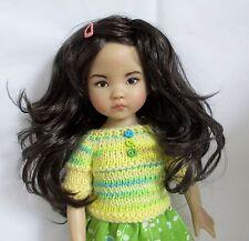 Monique Shaine Wig 7/8 for Effner Little Darlings Kish BJD MSD Nearly Black