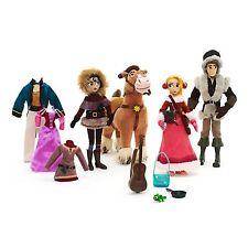 """Disney Store Tangled Deluxe 11"""" Doll Set Rapunzel Cassandra Flynn Fidella Horse"""
