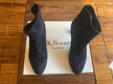 LK Bennett leather suede navy boots UK 6 39 boxed